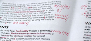 Online sentence editor