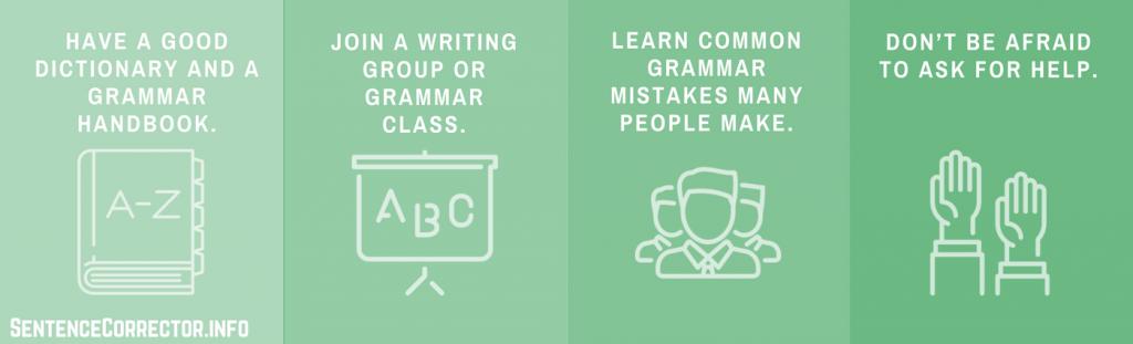 grammar rules checklist
