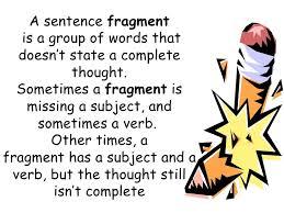 check for sentence fragment