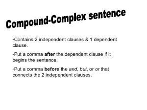 compound sentence checker