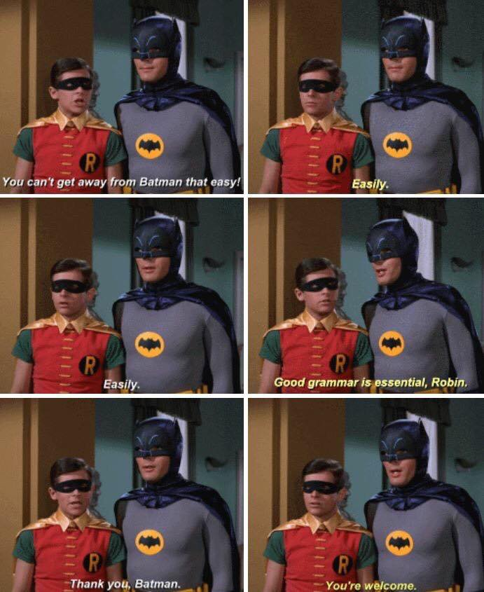 good grammar is essential robin