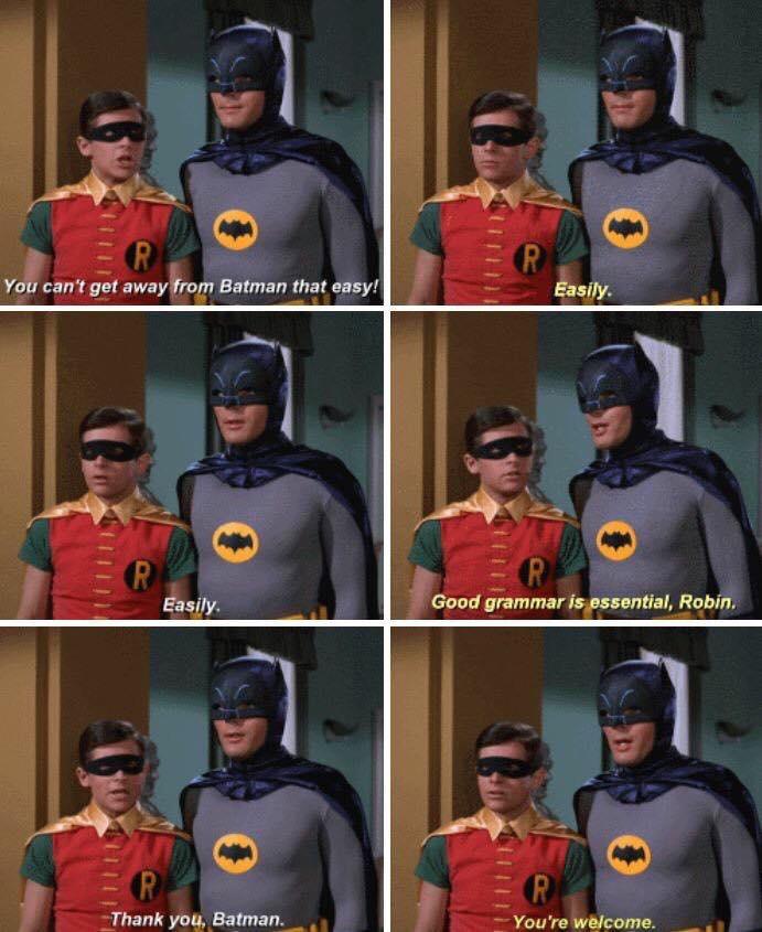 good grammar is essential robin