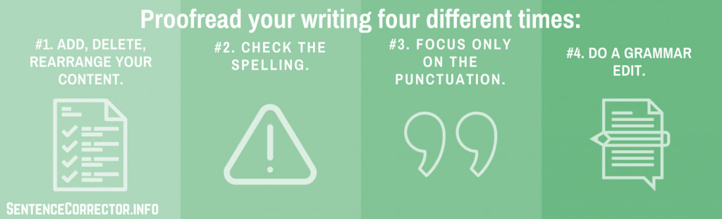 proofreading your sentences steps